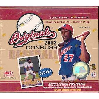 2002 Donruss Originals Baseball 24 Pack Box