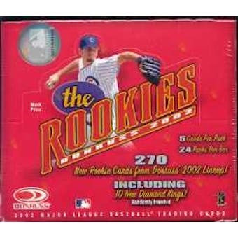 2002 Donruss The Rookies Baseball Hobby Box