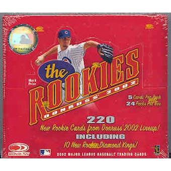 2002 Donruss The Rookies Baseball 24 Pack Box