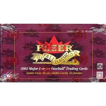 2002 Fleer Fall Classics Baseball Hobby Box