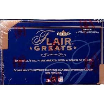 2003 Fleer Flair Greats Baseball Hobby Box