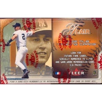 2002 Fleer Flair Baseball Hobby Box