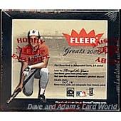 2002 Fleer Greats Of The Game Baseball Hobby Box (Reed Buy)