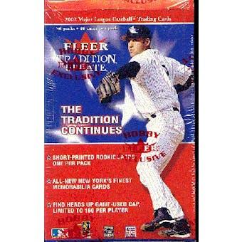 2002 Fleer Tradition Update Baseball Hobby Box