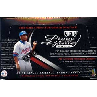 2002 Playoff Piece of the Game Baseball Hobby Box