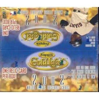 2002 Topps Gold Label Baseball 24 Pack Box