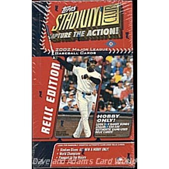 2002 Topps Stadium Club Relic Edition Baseball Hobby Box
