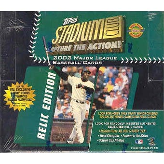 2002 Topps Stadium Club Relic Edition Baseball Jumbo Box