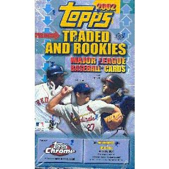 2002 Topps Chrome Traded & Rookies Baseball Hobby Box