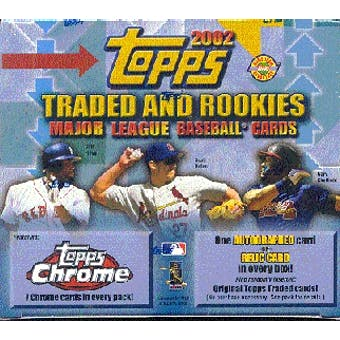 2002 Topps Chrome Traded & Rookies Baseball Jumbo Box