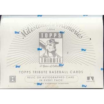 2002 Topps Tribute Milestone & Memories Baseball Hobby Box