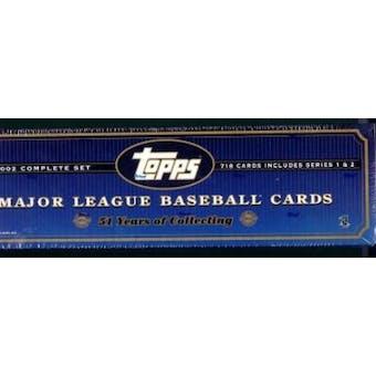 2002 Topps Baseball HTA Factory Set (Box) (Blue)