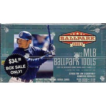 2002 Upper Deck BallPark Idols Baseball 24 Pack Hobby Box (w/o Bobber)
