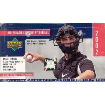 2002 Upper Deck Minor League Baseball Hobby Box