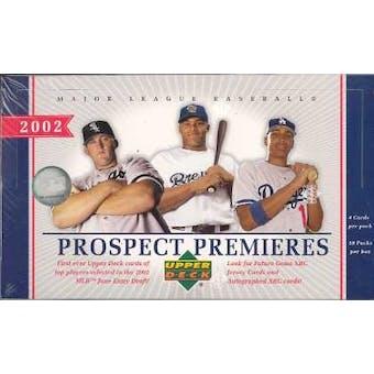 2002 Upper Deck Prospect Premieres Baseball Hobby Box