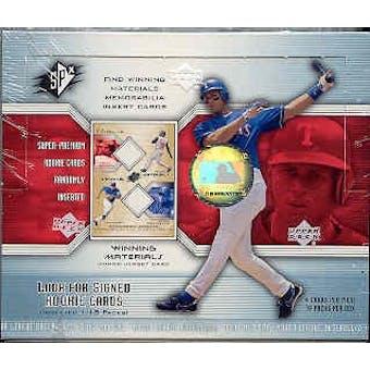 2002 Upper Deck SPx Baseball Hobby Box