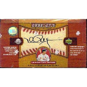 2002 Upper Deck Sweet Spot Baseball Hobby Box