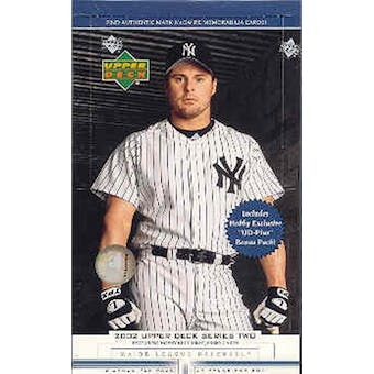 2002 Upper Deck Series 2 Baseball Hobby Box (Reed Buy)