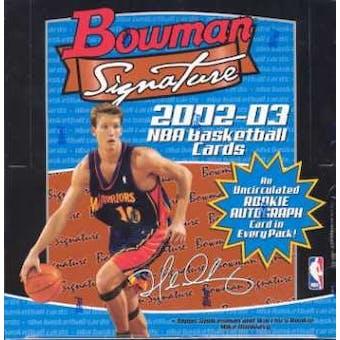 2002/03 Bowman Signature Edition Basketball Hobby Box