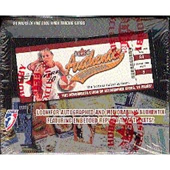 2002 Fleer Authentix WNBA Basketball Hobby Box