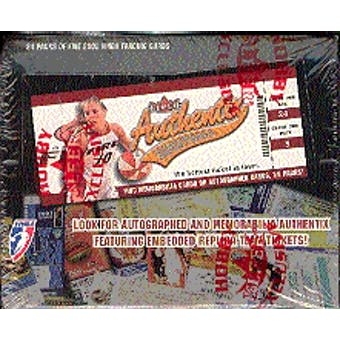 2002 Fleer Authentix WNBA Basketball Hobby Box