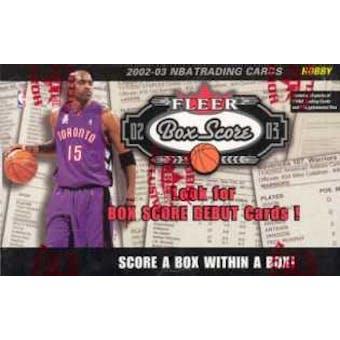 2002/03 Fleer Box Score Basketball Hobby Box