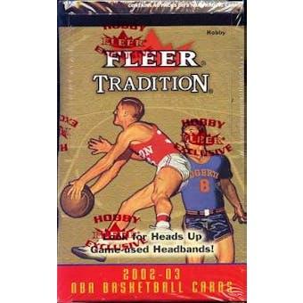 2002/03 Fleer Tradition Basketball Hobby Box