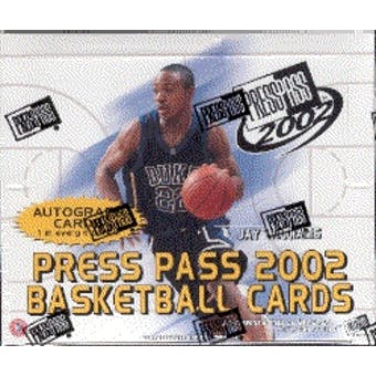 2002/03 Press Pass Basketball Hobby Box