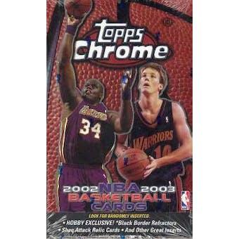 2002/03 Topps Chrome Basketball Hobby Box