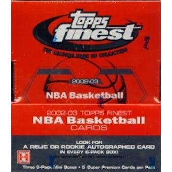 2002/03 Topps Finest Basketball Hobby Box