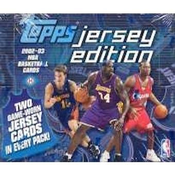 2002/03 Topps Jersey Edition Basketball Hobby Box