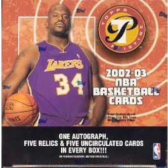 2002/03 Topps Pristine Basketball Hobby Box
