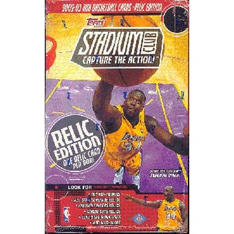 2002/03 Topps Stadium Club Relic Edition Basketball Hobby Box