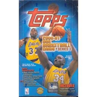 2000/01 Topps Series 1 Basketball Jumbo Box