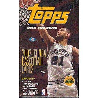 2002/03 Topps Basketball Hobby Box