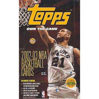 2002/03 Topps Basketball Jumbo Box