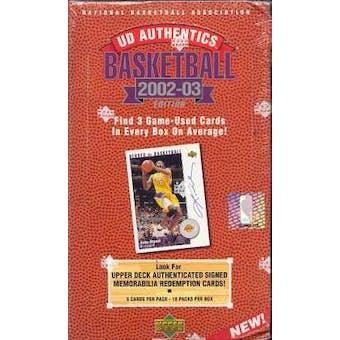 2002/03 Upper Deck Authentics Basketball Hobby Box