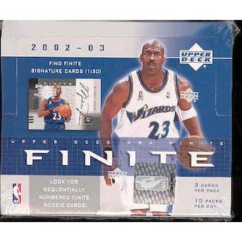 2002/03 Upper Deck Finite Basketball Hobby Box