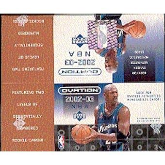 2002/03 Upper Deck Ovation Basketball Hobby Box