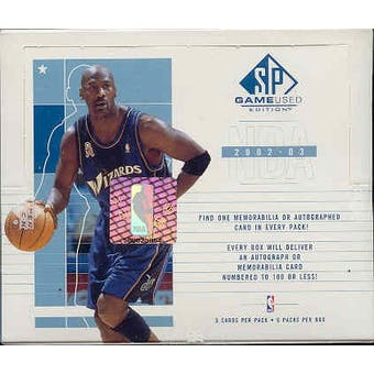 2002/03 Upper Deck SP Game Used Basketball Hobby Box