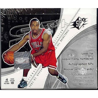 2002/03 Upper Deck SPx Basketball Hobby Box