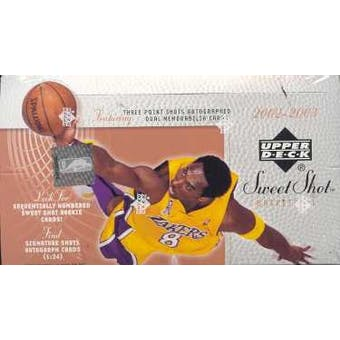 2002/03 Upper Deck Sweet Shot Basketball Hobby Box