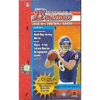 2002 Bowman Football Hobby Box