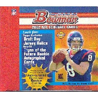 2002 Bowman Football Jumbo Box