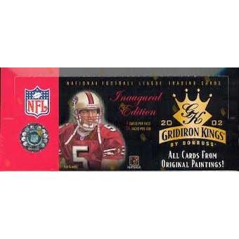 2002 Donruss Gridiron Kings Football Hobby Box