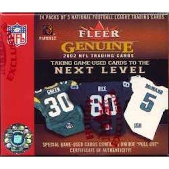 2002 Fleer Genuine Football Hobby Box