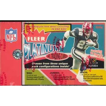 2002 Fleer Platinum Football Hobby Box