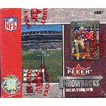 2002 Fleer Throwbacks Football Hobby Box