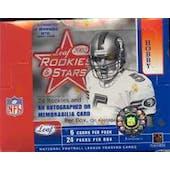 2002 Leaf Rookies & Stars Football Hobby Box