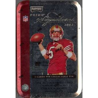 2002 Playoff Prime Signatures Football Hobby Tin (Box)